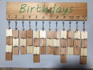 ideja za darilo, darilo, ročno delo, novo, koledar z rojstnimi dnevi